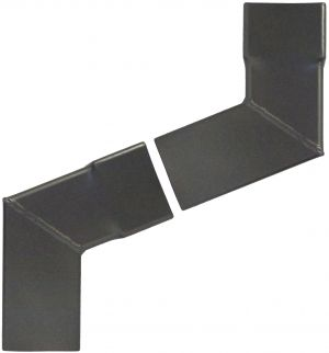 Swaged Collar Square Aluminium 2 Part Projection Offset 250-500mm