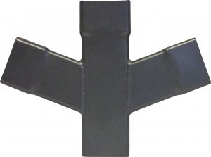 Swaged Collar Square Aluminium Double Branch Y Junction
